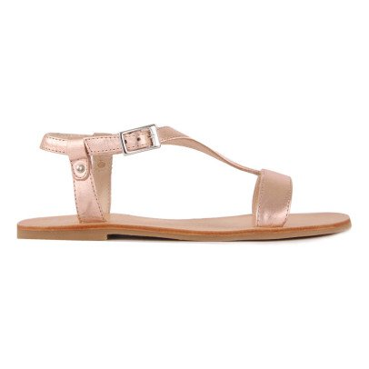 Manuela de Juan  Star Leather Sandals-listing
