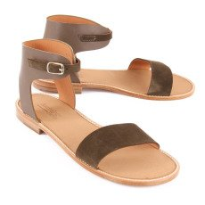 Anthology Paris Bali Suede and Leather Sandals-listing