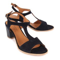 Anthology Paris Deauville Leather and Suede Heeled Sandals-listing