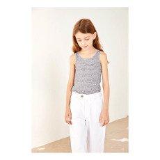 Polder Girl Camiseta Algodón y Lino Rayas Brasil-listing