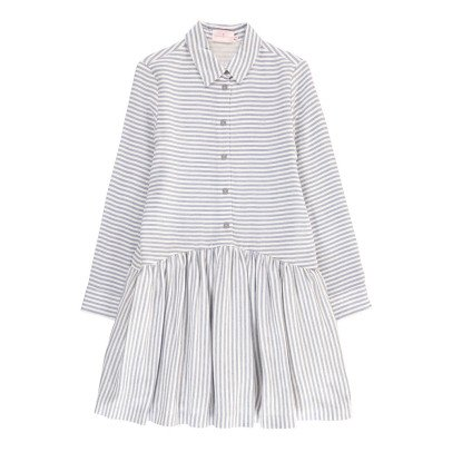 Cuisse de Grenouille Robe Chemise Rayée Camisa-listing