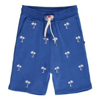 Sweet Pants Palm Tree Embroidered Loose Fleece Shorts-listing