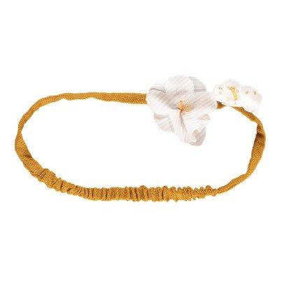 Noro Headband mit Bommel Blumen -listing