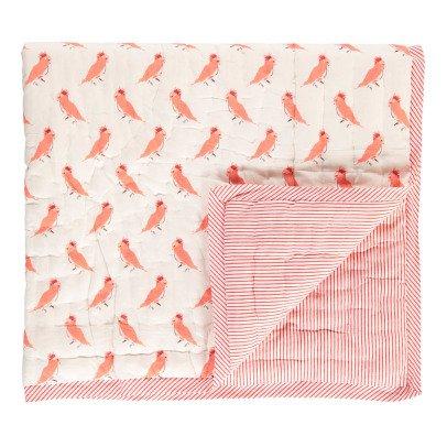 Le Petit Lucas du Tertre Copertura reversibile uccellini rosa-listing