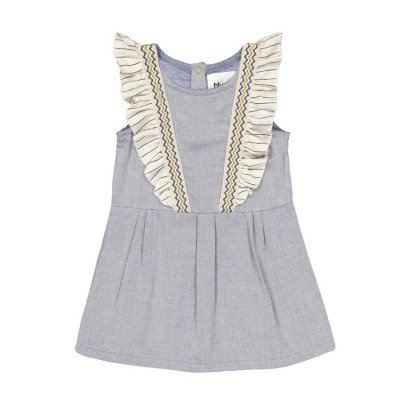 Blune Kids Sea Air Ruffled Chambray Dress-listing