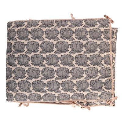 Moumout Peonies Cotton Bed Bumper-listing