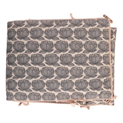 Moumout Tour de lit en coton Pivoines-listing