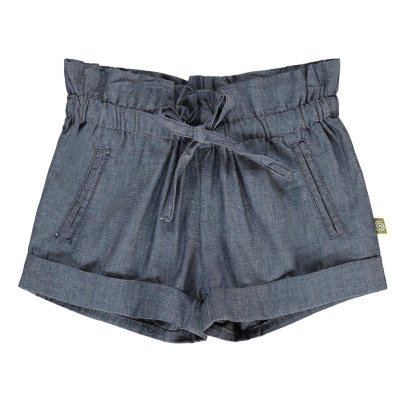 Nui Lauren Chambray Organic Cotton Shorts-listing
