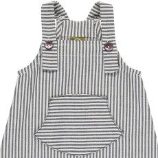 Nui Shane Chambray Striped Organic Cotton Dungarees-listing