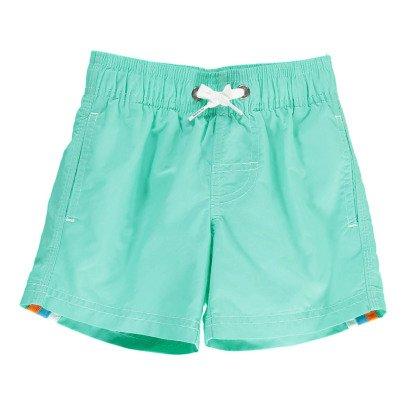 Sundek Short de Bain Uni Bande Tricolore-listing