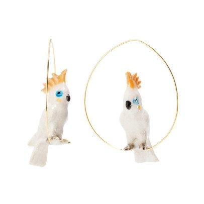 Nach Ohrringe aus Porzellan Papagei Grande -listing