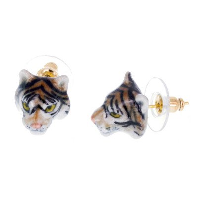 Nach Mini Tiger Porcelain Earrings-listing