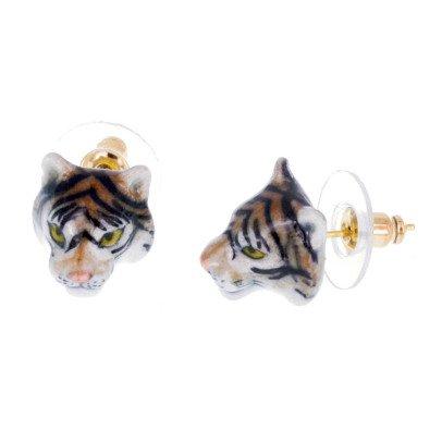 Nach Ohrringe aus Porzellan Mini Tiger -listing
