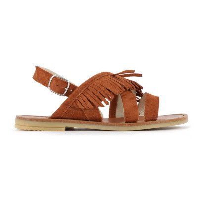 Pèpè Two Con Me Fringed Nubuck Sandals-listing