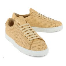Zespà ZSP4 Perforated Lace Up Leather Trainers-listing