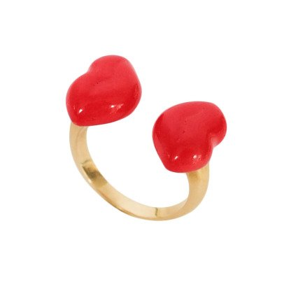 Nach Double Kiss Adjustable Ring-listing