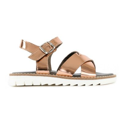 Pèpè Two Con Me Metal Buckle Leather Sandals-listing