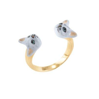 Nach Verstellbarer Ring Double Katze -listing