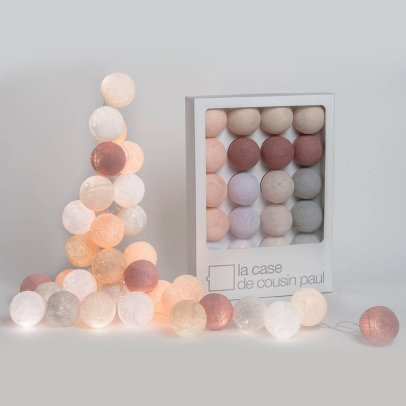 La case de cousin Paul Altiplano garland - 20 luminous balls-listing