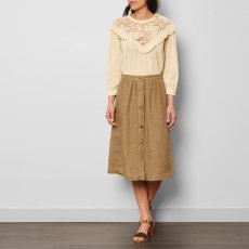 Masscob Linen Button Up Maxi Skirt-listing