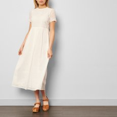 Les coyotes de Paris Uma Ribban Waist Ebroidered Maxi Dress-listing