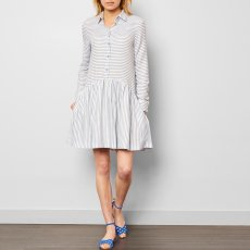 Cuisse de Grenouille Camisa Striped Shirt Dress-listing