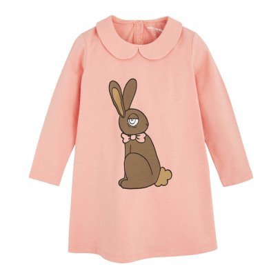 Mini Rodini Rabbit Peter Pan Collar Dress-listing