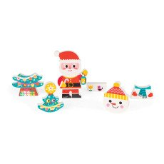 Janod Funny Father Christmas and Friends Magnets-product