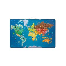 Janod Magnetic world map - Animals-listing