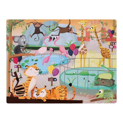 Janod A Day At The Zoo Touch & Feel Puzzle-product