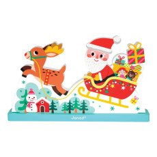product-Janod Father Christmas' Sleigh Magnetic Puzzle
