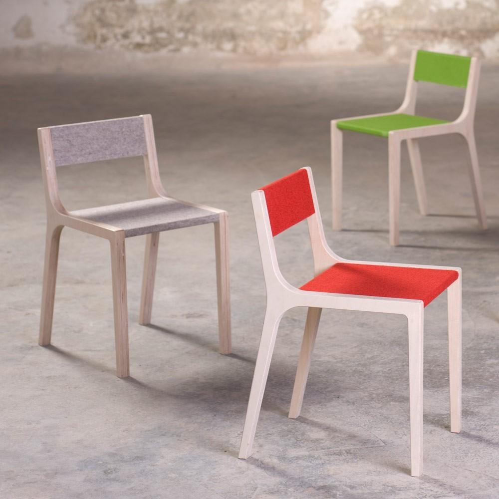 stuhl sepp aus holz und filz grau sirch design kind. Black Bedroom Furniture Sets. Home Design Ideas