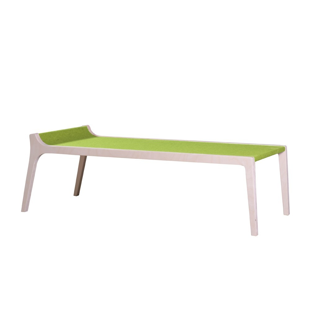 banc table erykah en bois et feutre vert vert sirch design. Black Bedroom Furniture Sets. Home Design Ideas