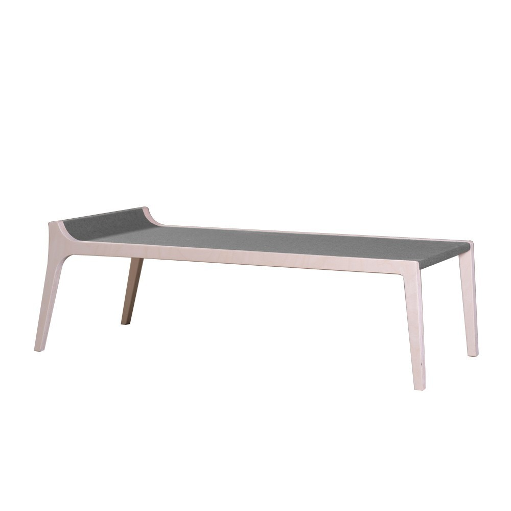 banc table erykah en bois et feutre gris gris sirch design. Black Bedroom Furniture Sets. Home Design Ideas
