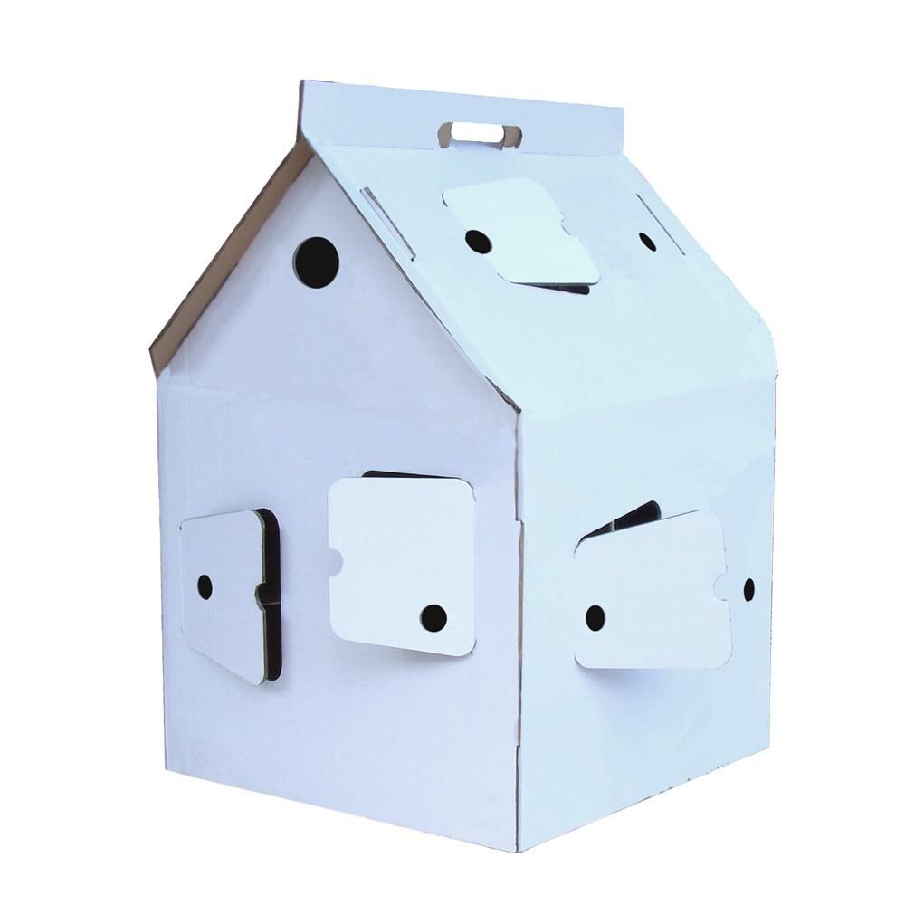 casa cabana maison en carton blanche studio roof jouet et. Black Bedroom Furniture Sets. Home Design Ideas