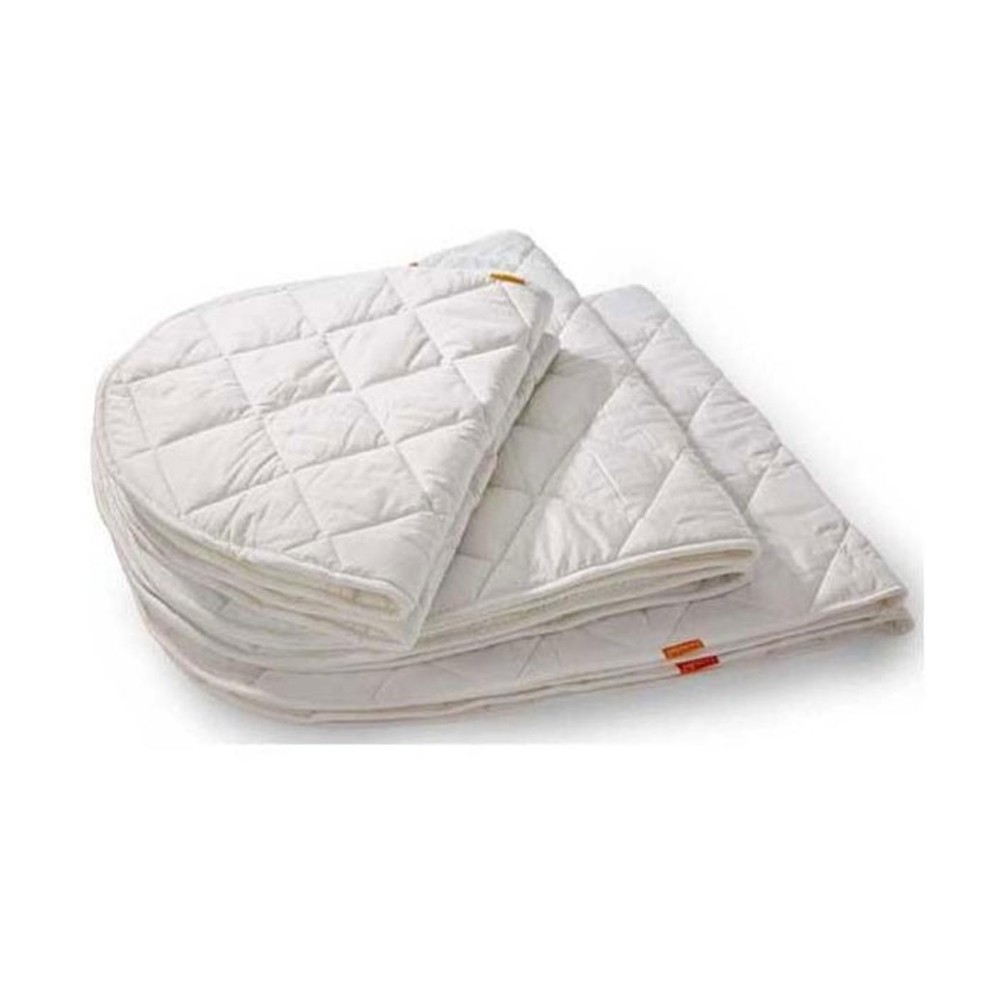 Baby crib mattress topper - Crib Mattress Pad Off White Product
