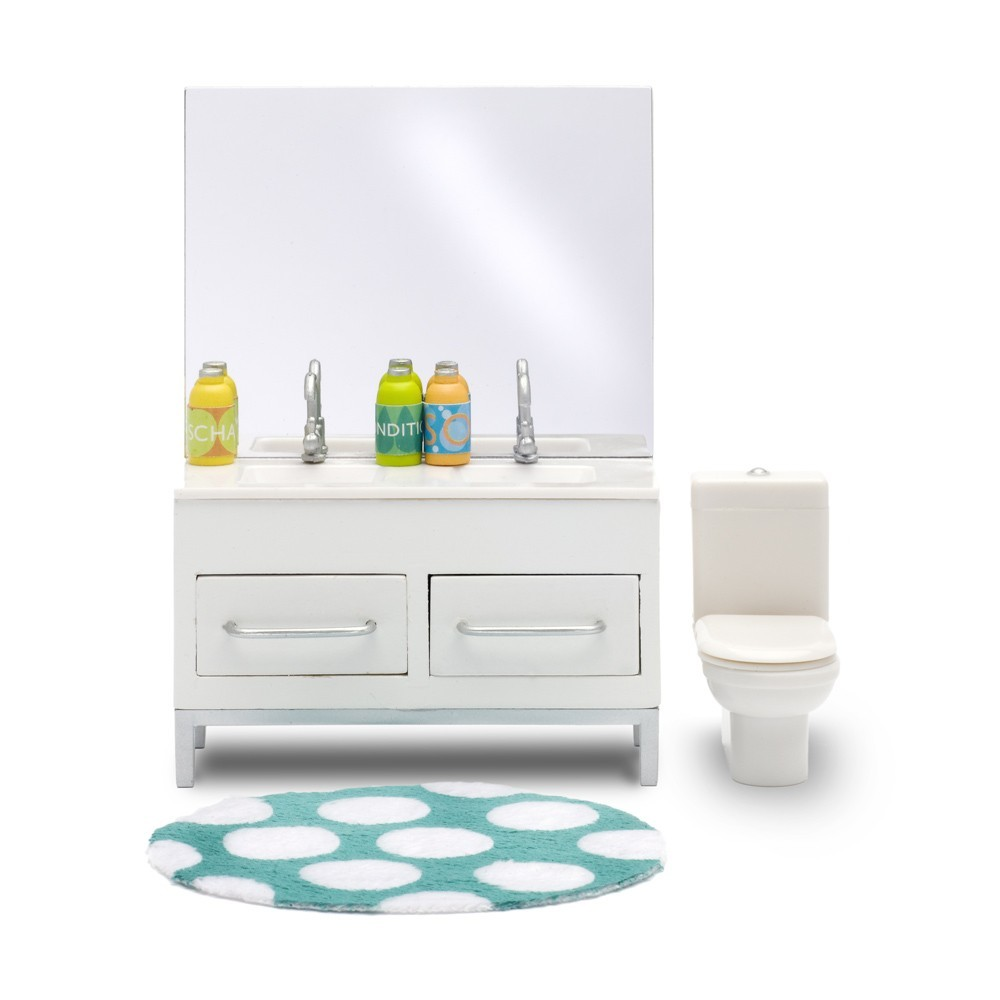 Accessoires maison de poup e ensemble salle de bain lundby for Ensemble accessoire salle de bain