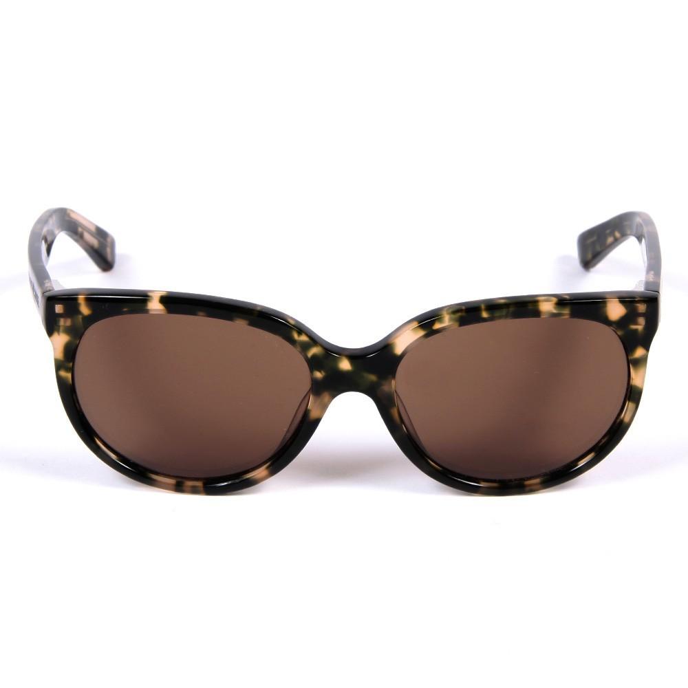 lunettes de soleil cat eye marron brun finger in the. Black Bedroom Furniture Sets. Home Design Ideas