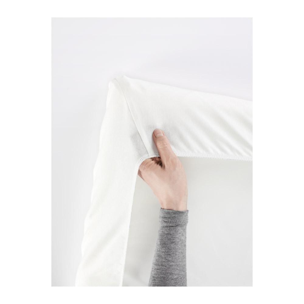 drap housse pour le lit de voyage blanc babybj rn design b b. Black Bedroom Furniture Sets. Home Design Ideas