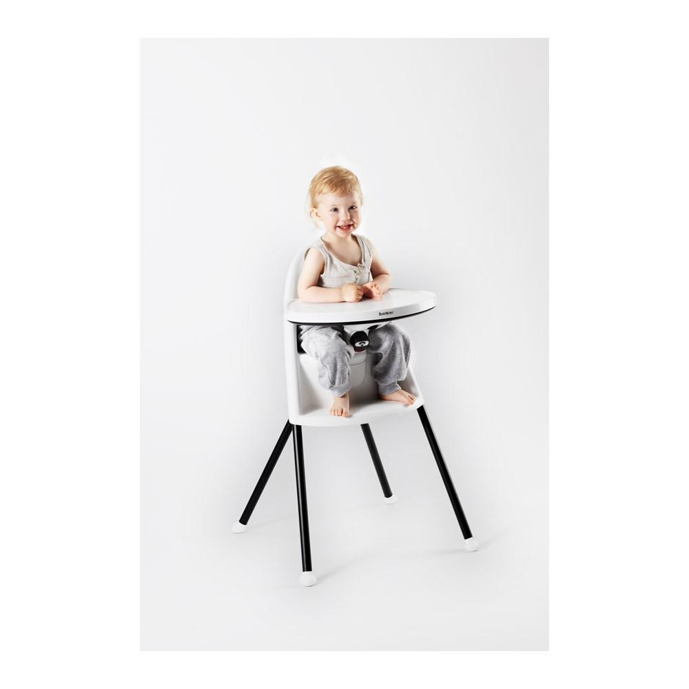 chaise haute blanc blanc babybj rn design b b. Black Bedroom Furniture Sets. Home Design Ideas