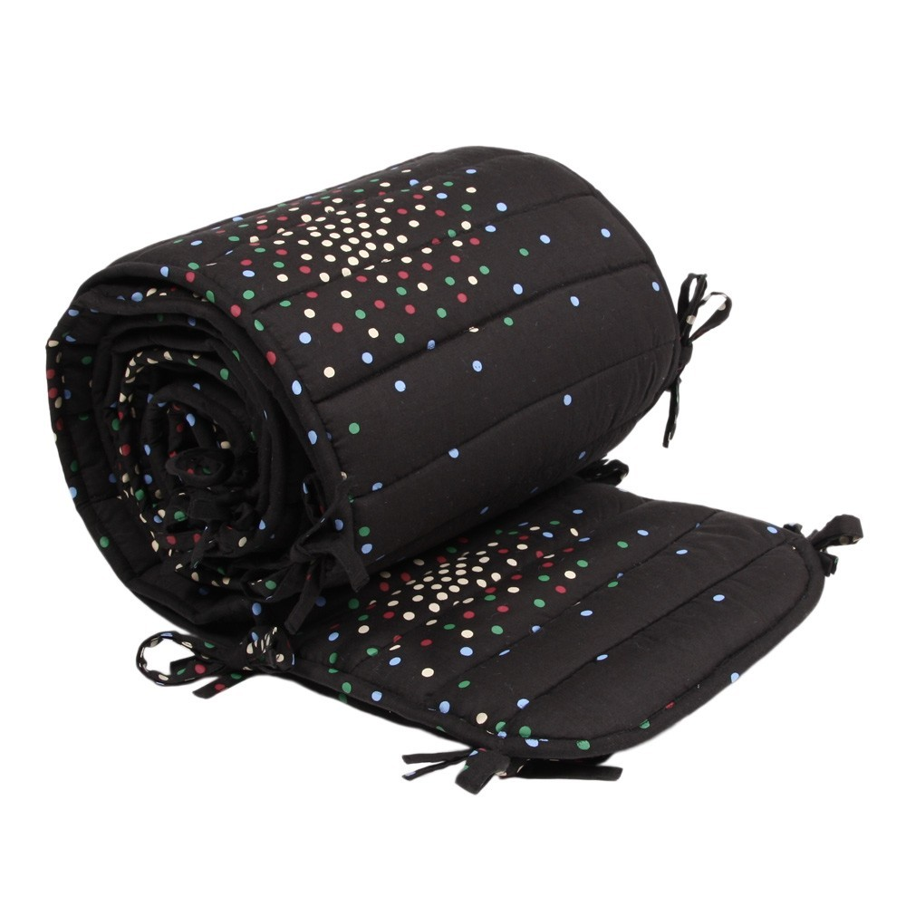 tour de lit complet charbon pois multicolores polder girl. Black Bedroom Furniture Sets. Home Design Ideas
