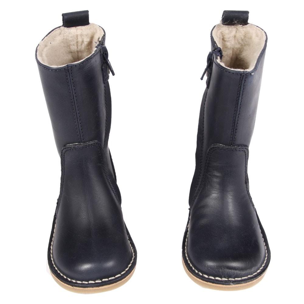 bottes fourr es laine bleu marine diggers chaussure enfant. Black Bedroom Furniture Sets. Home Design Ideas