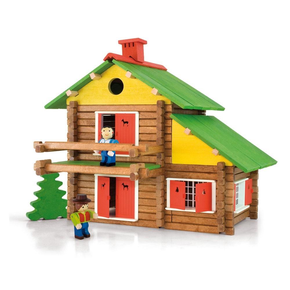 Chalet En Bois Construction - Jeu de construction Mon chalet en bois 175 pi u00e8ces Jeujura