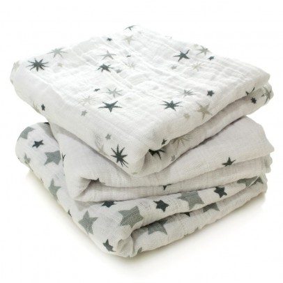 leichter schlafsack - rosa sterne aden + anais design baby - Kinderzimmer Deko Sterne