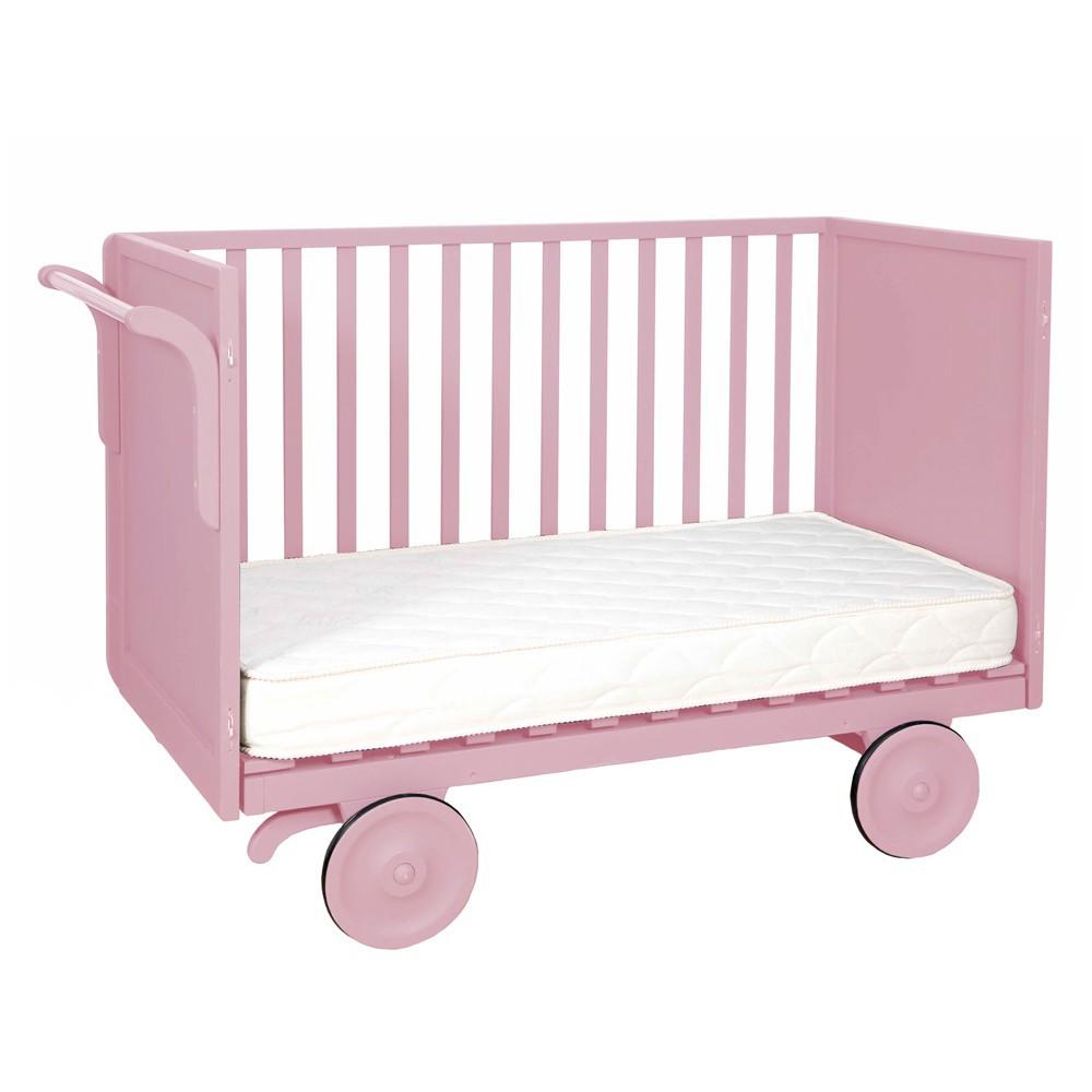 lit volutif roulotte 60x120 cm vieux rose laurette design. Black Bedroom Furniture Sets. Home Design Ideas