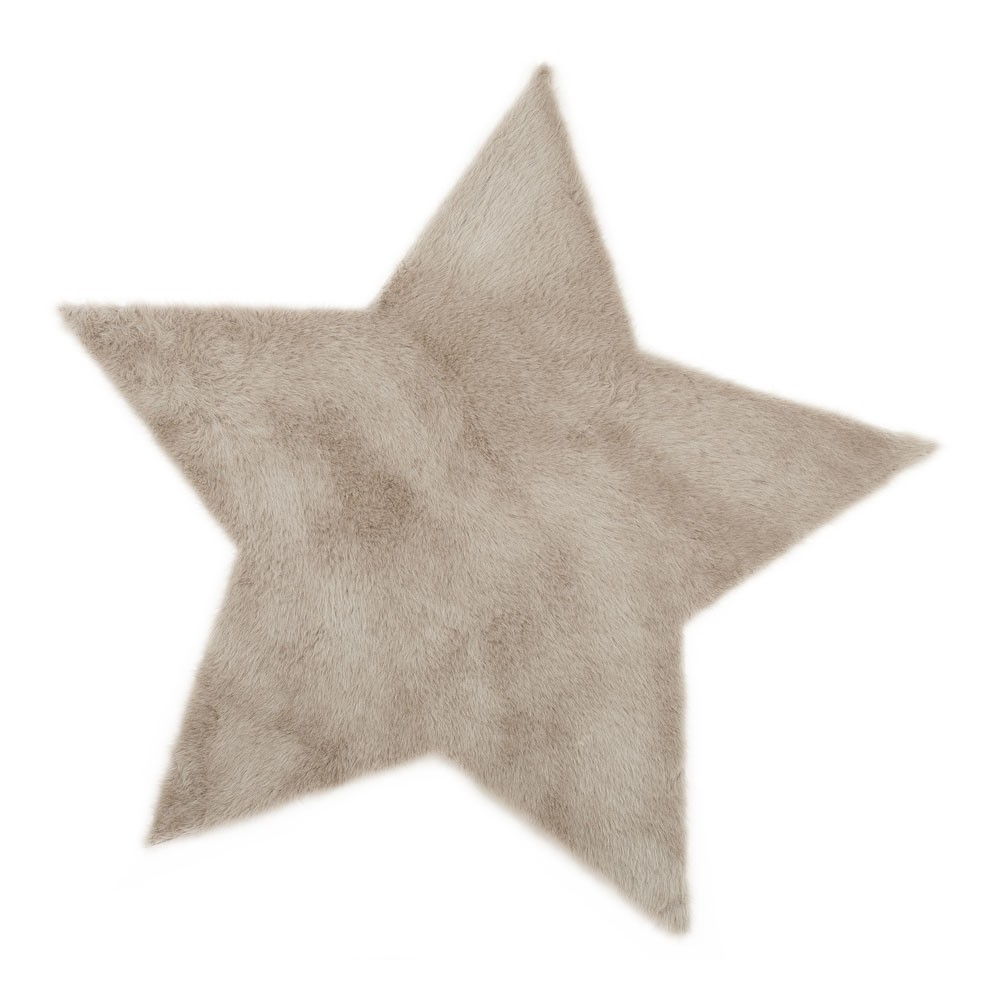 Teppich Stern  beige Beige Pilepoil Design Baby , Kind
