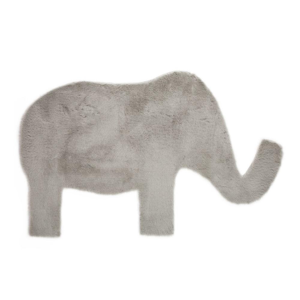 Tappeto elefante grigio chiaro grigio chiaro pilepoil design - Tappeto grigio chiaro ...