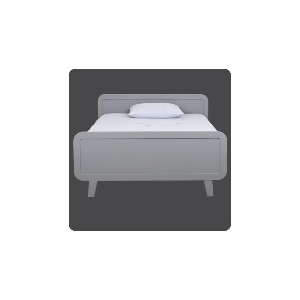 lit rond 120x200 cm gris laurette design enfant. Black Bedroom Furniture Sets. Home Design Ideas