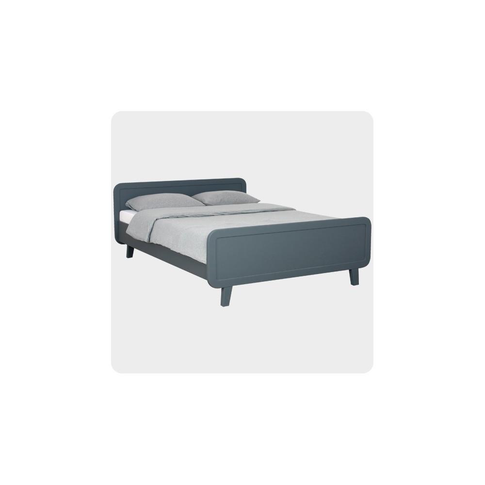lit rond 140x200 cm gris fonc laurette design enfant. Black Bedroom Furniture Sets. Home Design Ideas