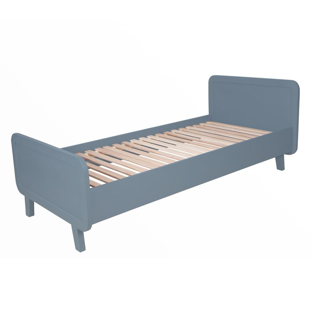 lit rond 90x200 cm gris souris laurette design enfant. Black Bedroom Furniture Sets. Home Design Ideas